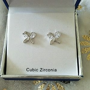 Sparkly Butterfly Studs
